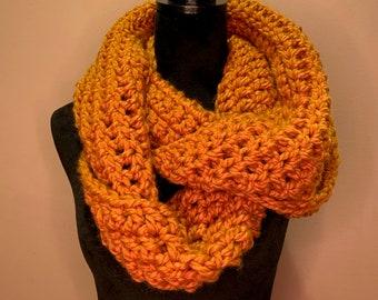 Wool Crochet infinity scarf