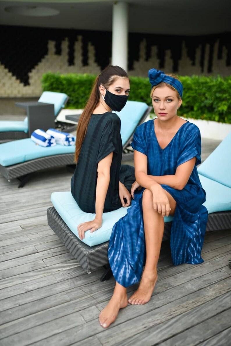 tie dye loungewear set gift for her Hand dyed t shirt dress gift for women bridal shower summer sun dress long maxi dress