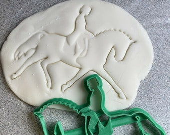 Jockey cookie cutter horse racing riding Equestrian horsemanship biscuit equine