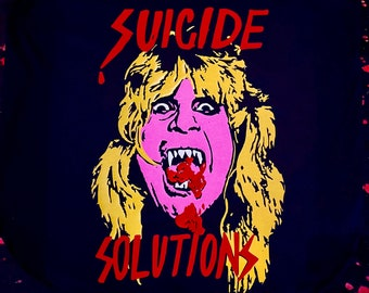 Suicide solution cranberry mouthed Ozzy tee!