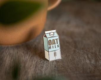 Oat Milk Hard Enamel Pin - Vegan Starter Pack