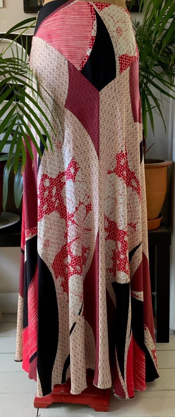 Emilio Pucci Vintage Full Length Silk Skirt