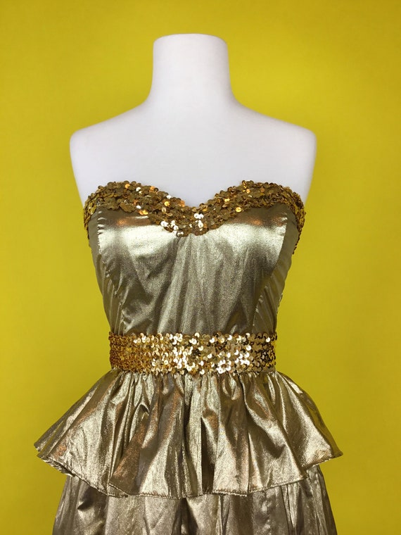80's Gunne Sax Party Cocktail Dress - image 2