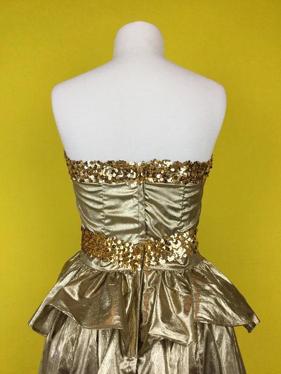80's Gunne Sax Party Cocktail Dress - image 4