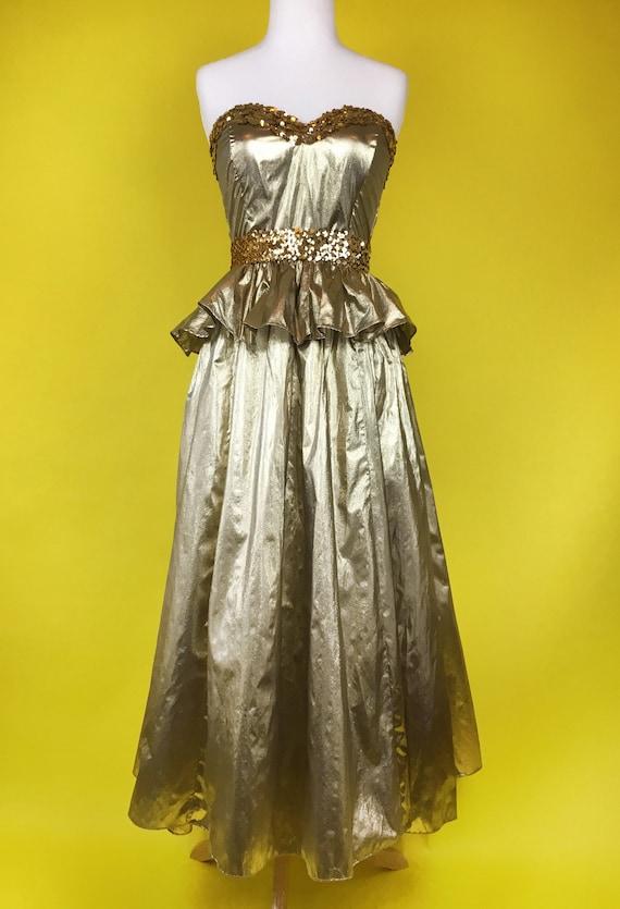 80's Gunne Sax Party Cocktail Dress - image 1