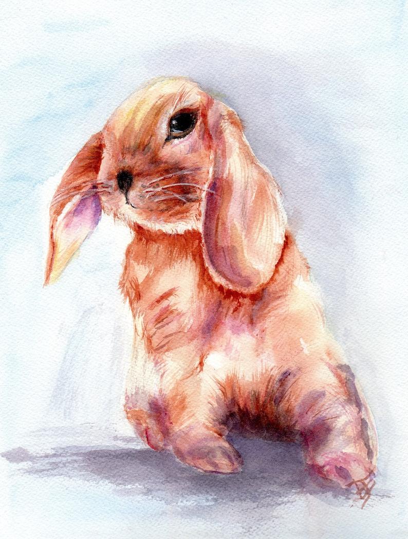 Rabbit- Original Watercolor only