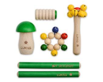 Children's Instruments Set - Color - Beech