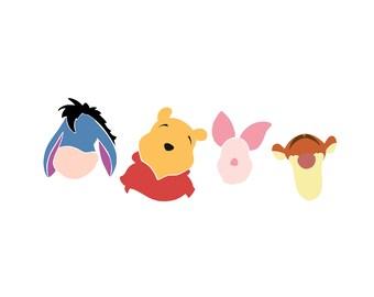 Winnie the Pooh SVG / Eeyore, Tigger, Piglet, Pooh
