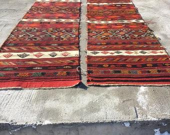 Handwoven Kilim Antique Kilim Runner Tribal Kilim Anatolian Colorful Kilim Boho Home Decor Hemp Kilim Vintage Turkish Kilim 2.6x6 ft