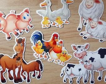 Handmade Bullet Journal Stationary Laptop Decal Journal Stickers Cow Friends Sticker Pack Cute Farm Animals Illustration Cow Artwork