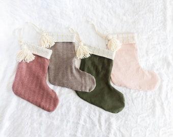 Christmas Stocking Personalized Tassel | Custom Name Christmas Stocking | Monogram Stockings | Family Stockings | holiday Stockings