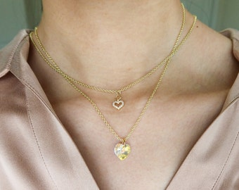 Coco Cherie necklace crystal heart
