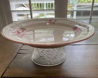 Roses and Glass Upcycled Cat Dish