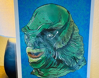 Creature from the Black Lagoon Print