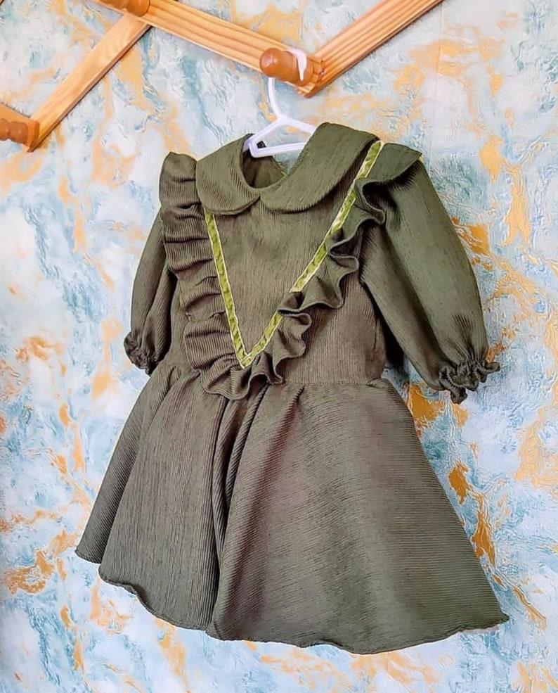 Personalized Baby Girl Dress Vintage Birthday Girl Dress Princess Dress Gift For Baby Girls Toddler Holiday Dress Baby Girl Dress