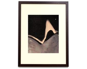 Unclassified Moon 029 - 10x8 inch - Original Hand Printed Chemigram - Alternative Photographic Print