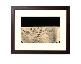 Horizon 002 - 7x5 inch - Original Hand Printed Chemigram - Alternative Photographic Print