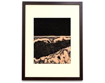 Unclassified Moon 027 - 10x8 inch - Original Hand Printed Chemigram - Alternative Photographic Print