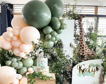 238pcs Sage Green Balloon Garland Wedding Decoration Chrome Gold Doubled Blush Nude Balloon Arch Baby Shower Decor Bachelor Party Decoration