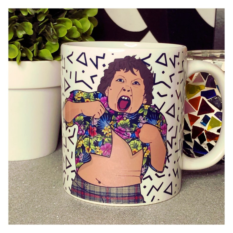 Goonies Chunk 80s Pattern Background Mug