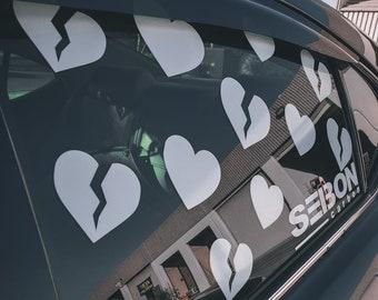SADBOYZ Broken Heart SET OF 10 Vinyl Decal  Sticker Car Window sticker die cut custom colors sadboys phone sticker Truck decal Car decal