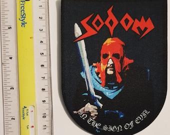 SODOM embroidered patch Kreator Destruction Venom Motorhead Razor Sacrifice Slayer Bathory Judas Priest Tankard Overkill Onslaught Exumer