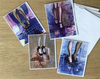 Killer Shoes Fashion  Notecard Assortment, set of 4