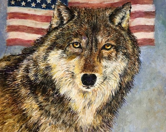 Wolf Cards, Woodland Animal Cards, Animal Painting Cards,  Forest Animals Cartds