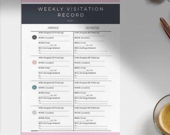 Weekly visitation record