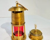 Nautical Minors Hanging 6 quot Mini Oil Lamp Marine Maritime Decor Home Garden Vintage Gift Item