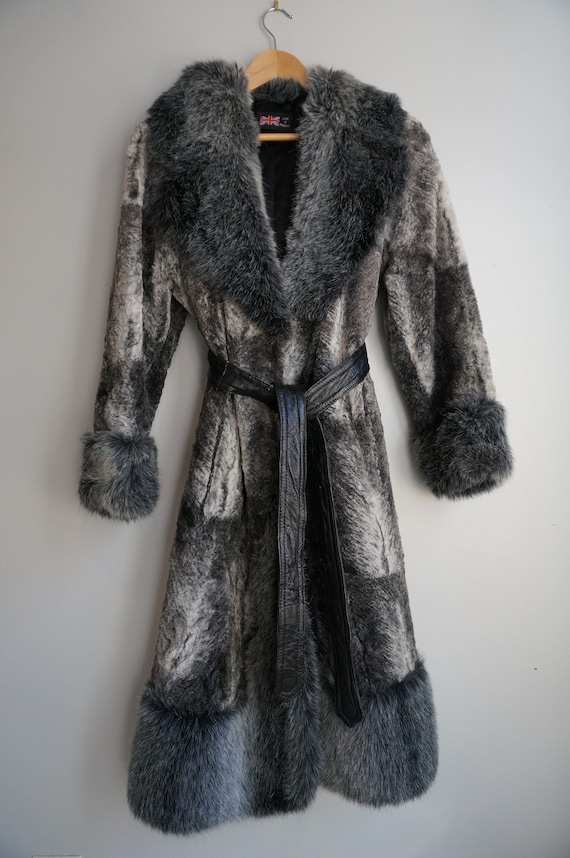 70's Made in Britain Vintage Faux Fur Penny Lane C