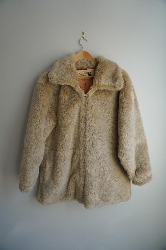 1960's White Stag Faux Fur Coat