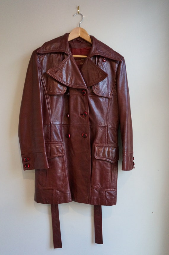 70s Etienne Aigner Oxblood Red Burgundy Leather Co