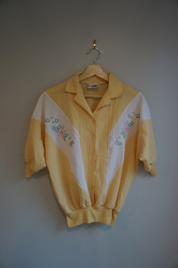 Vintage Yellow Summer Top