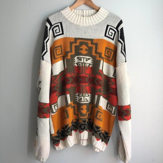 80's Oversized Southwestern Sweater