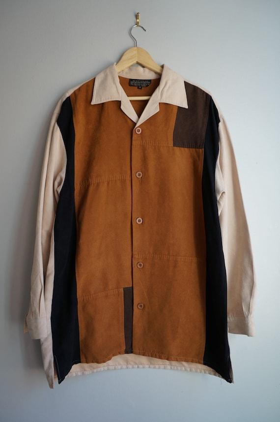 80's Color Block Suede