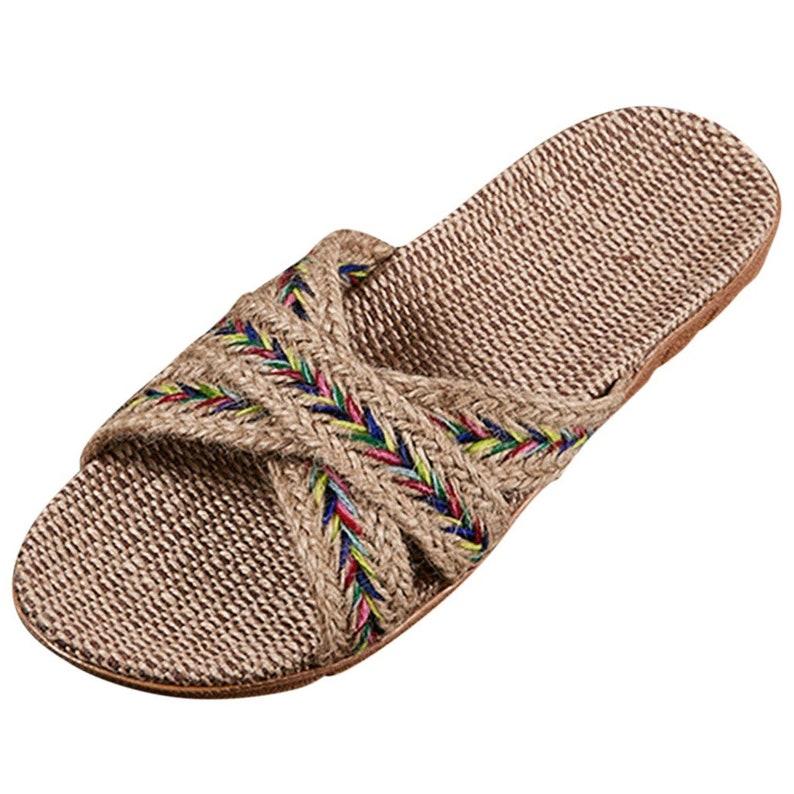 8. Summer Woven Hemp Sandals by Golden Walk.
