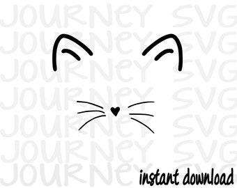 Cat Face SVG, Cat SVG