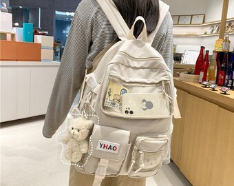 Computer backpack,Large capacity Backpack,Ita Bag black,cute Backpack,Window Bag