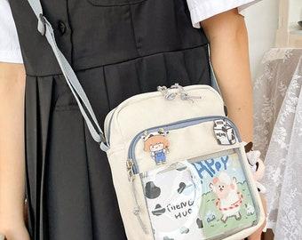 Messenger Bag PRE-ORDER** Eyeball Ita Bag  Crossbody Bag Clear Bag Backpack  Pin Bag