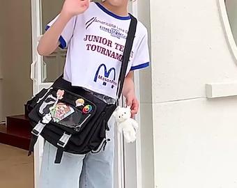Shoulder bag, Messenger Bag, female backpack, cute badge bag, postman bag, ita bag,crossbody bag
