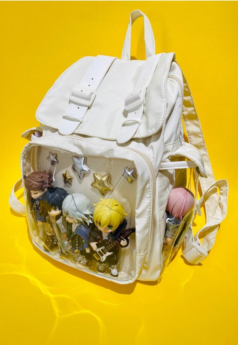 Large BlackWhite Ita Bag,Ita Bag Backpack,Itabag,Pin Display Backpack,Window Bag