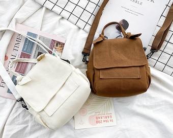 Small cotton handbag, small cross-body bag,Japanese cute small bag,vintage  small bag