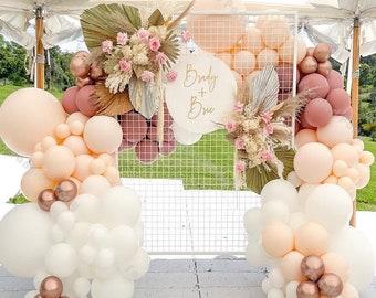Rose Gold Peach Chrome Gold Chrome Mauve Dusty Rose Nude Balloons Bridal Shower Fall Wedding Mauve Balloons Dusty Rose Shower Fall in Love