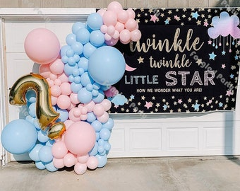 Prince Blue Balloon Arch Garland Kit-Macaron Blue Balloon Navy Blue Balloon Gray Balloon 145Pcs for Baby Shower,Gender Reveal,Birthday,Wedding,Engagement,Christmas and New Year Party Decoration.