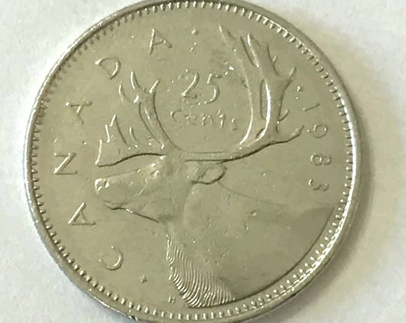 Low Mintage QUARTER 1983 Canada 25 CENTS from low mintage year Canadian Coin