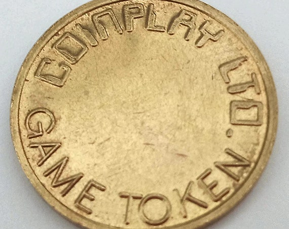 1980's nostalgia Video Arcade Coin COMPLAY Ltd. GAME TOKEN marked No Cash Value