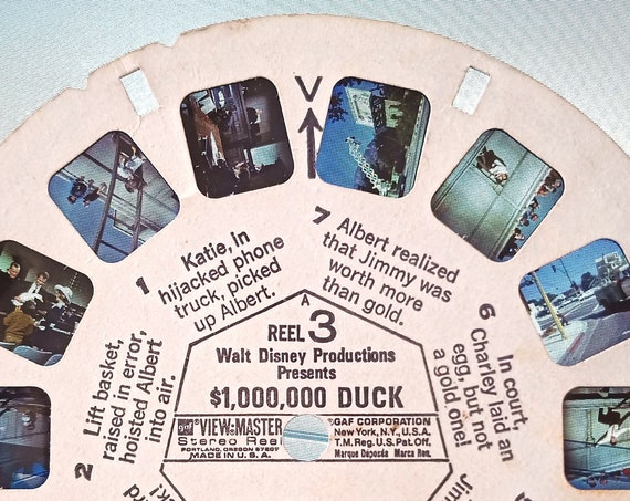 Disney ViewMaster Reel, vintage 1971 View-Master REEL 3 Walt Disney's 1,000,000 dollar DUCK single B 5063
