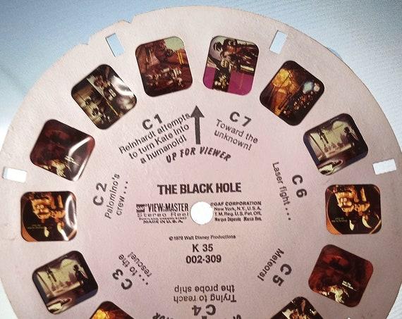 The Black Hole Disney REEL, GAF View-Master 1979 single K 35 REEL C, Journey Begins Where Everything Ends, Walt Disney's Sci-Fi Classic