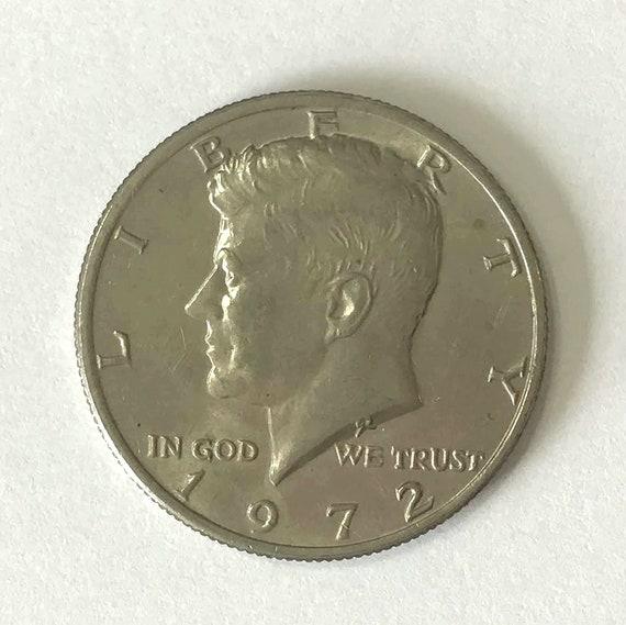 Kennedy Half Dollar, 1972 fifty cent piece USA American HALF DOLLAR with Kennedy, 50 cents